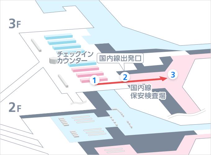 国内線出発の流れ(第1ターミナル) - 出発・到着の流れ   中部国際 ...
