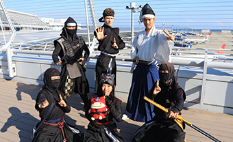 Ninja decorations at Central Japan International Airport Station